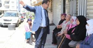Deniz Köken, Akşemsettin ve Çırçır mahallelerini gezdi